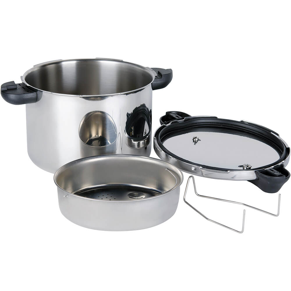 Stainless Steel, Pressure Cooker with Steamer Basket, 8.5 Qt. View 3