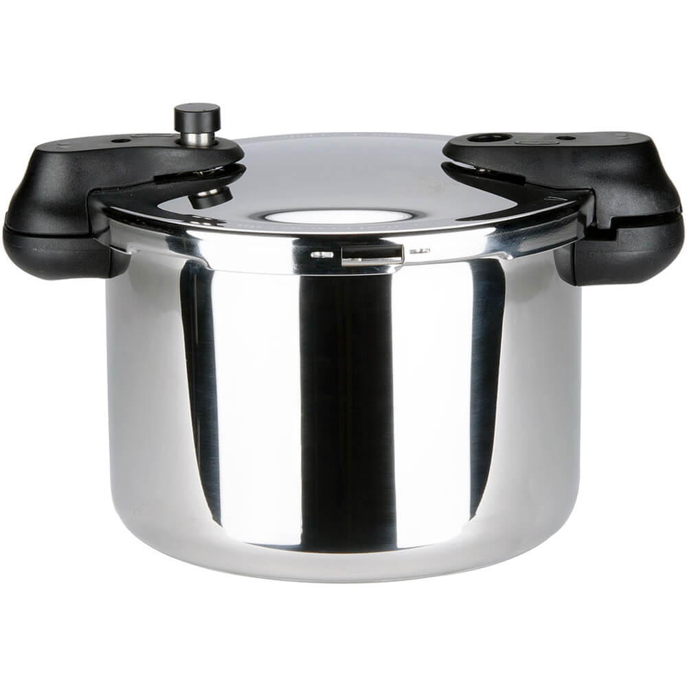 Stainless Steel, Pressure Cooker with Steamer Basket, 8.5 Qt.