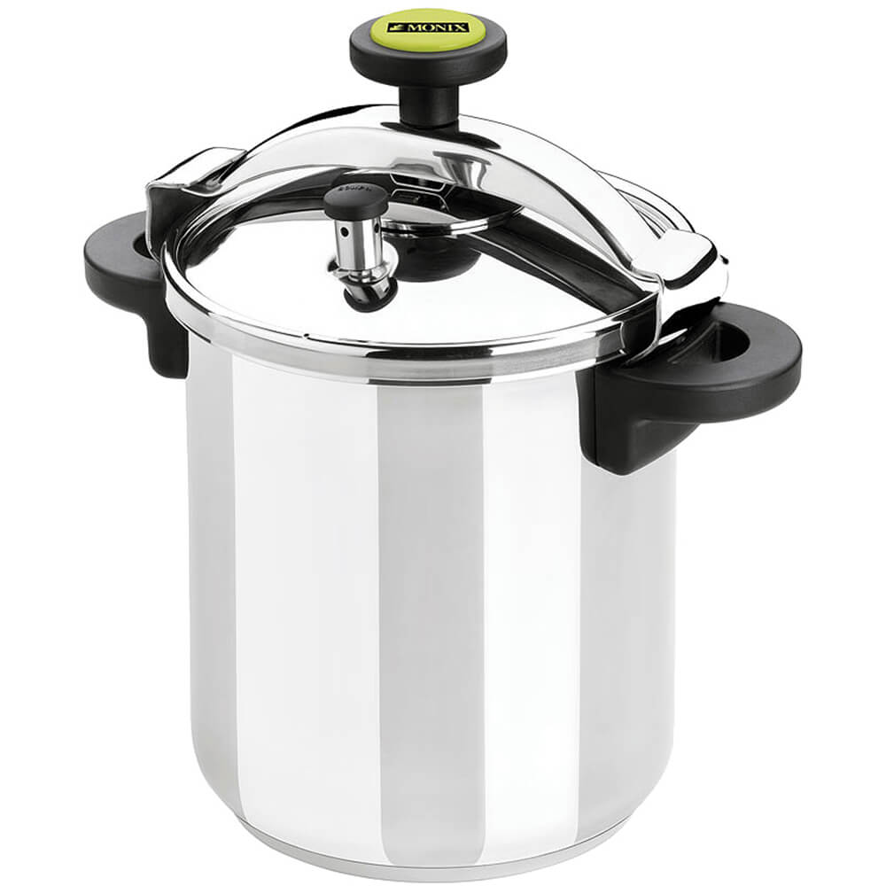 Monix stainless steel pressure cooker with safety valve
