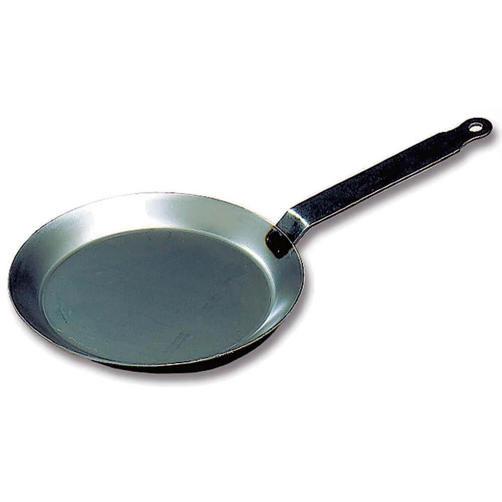 """Black Steel Round Crepe Pan, 8.62"""""""