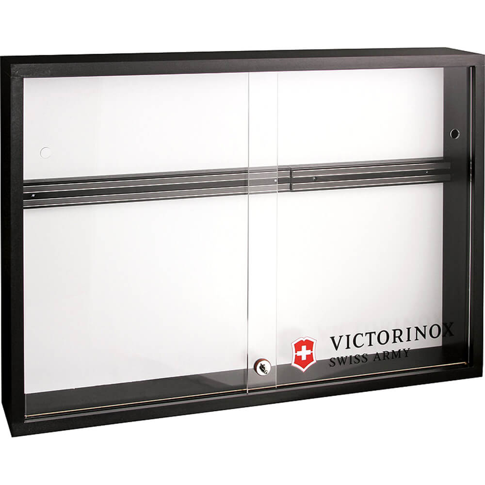 Black, Locking Magnetic Knife Display Cabinet With Plexi Doors