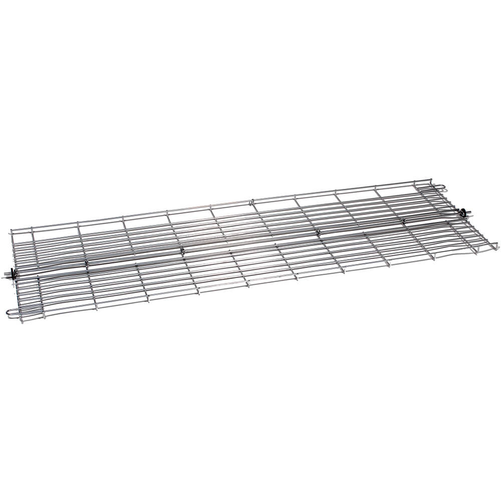 "Silver, 60"" Folding Bottom Wire Shelf for Clothes Rack"