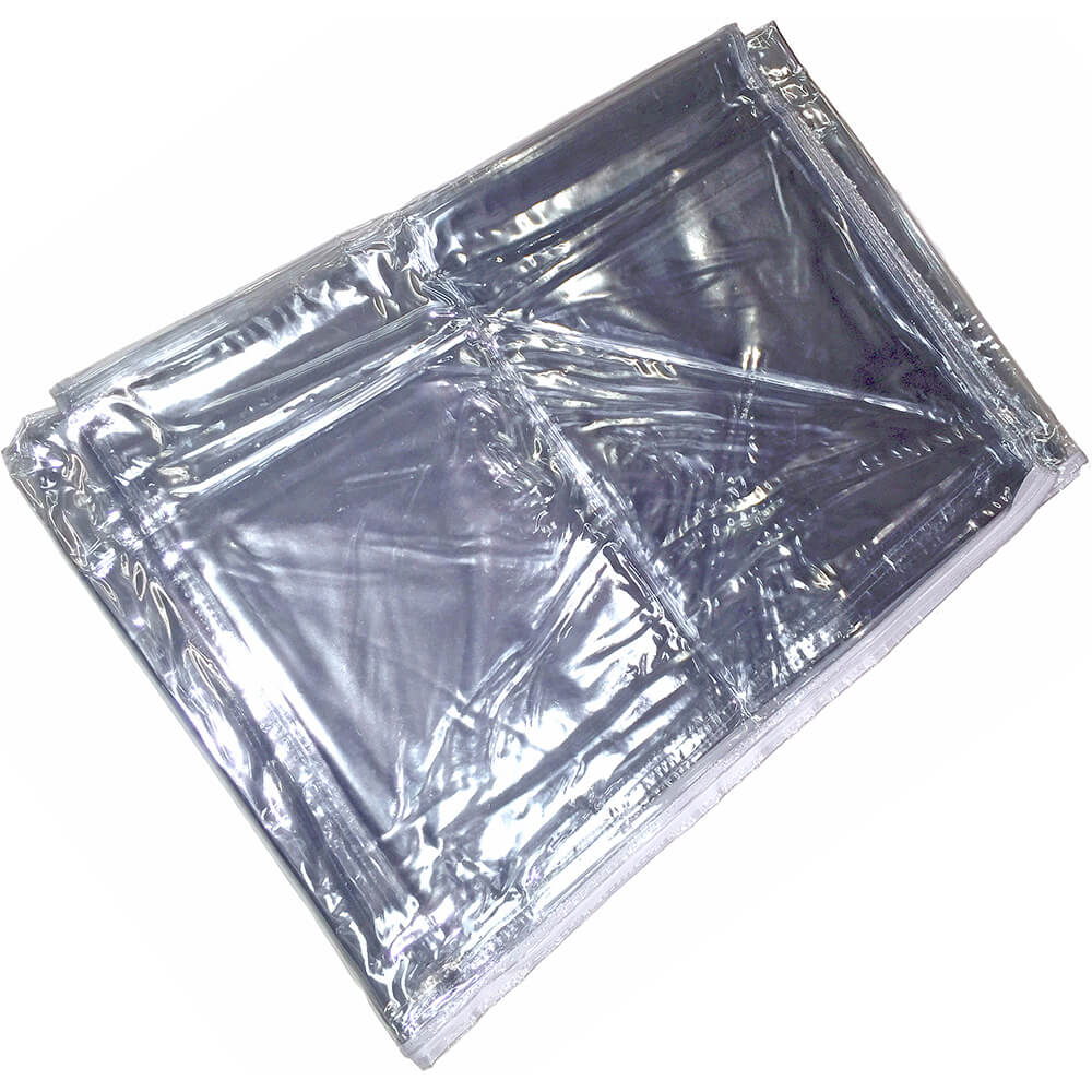 "Clear Vinyl Cover W/ Zipper For 5ft Garment Rack, 72"" High View 2"