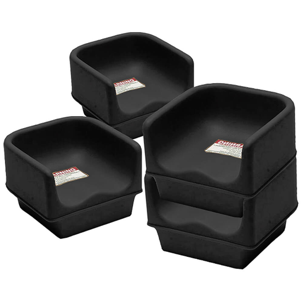 Cambro Black Single Height Booster Seat No Strap 4 Pk