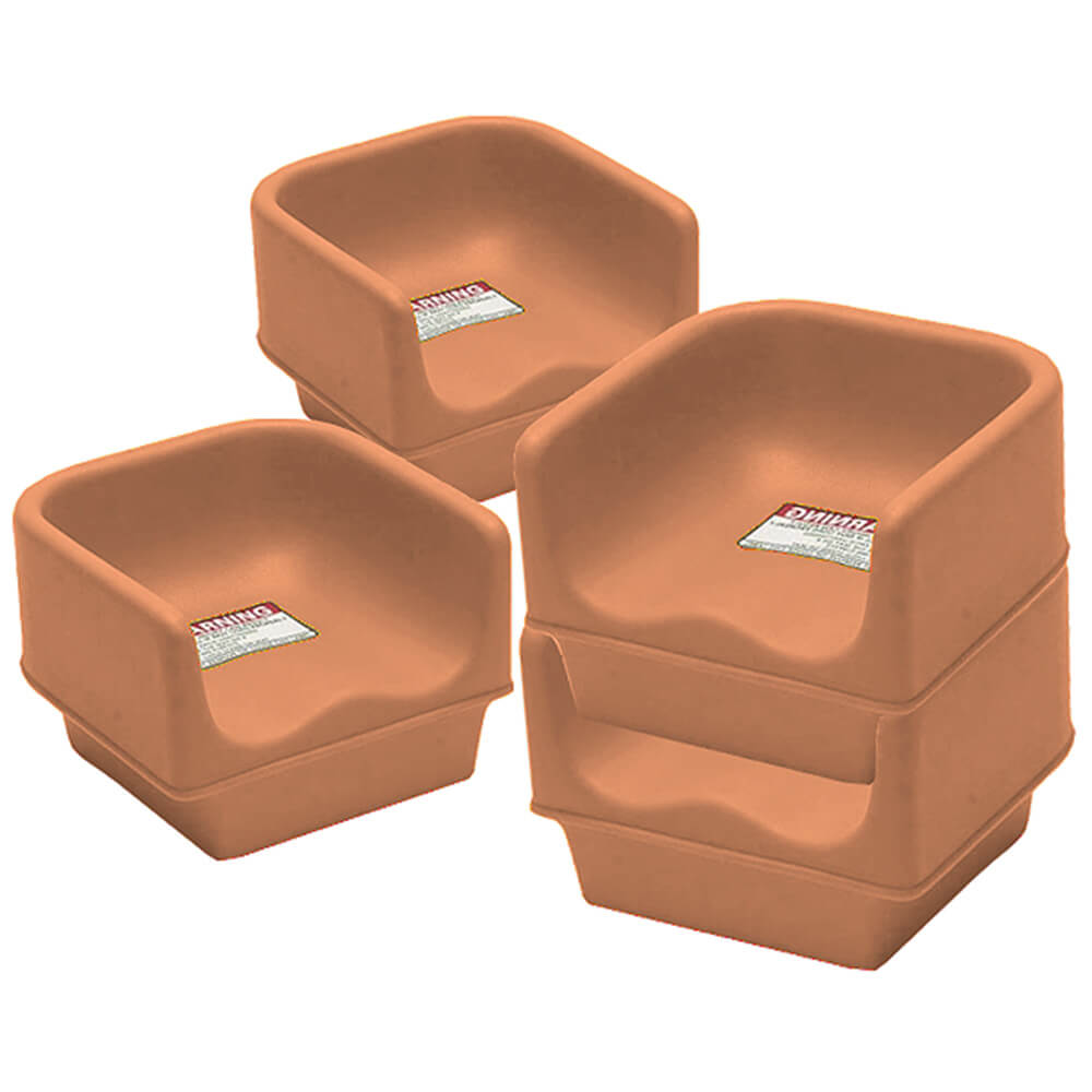 Coffee Beige, Single Height Booster Seat, No Strap, 4/PK