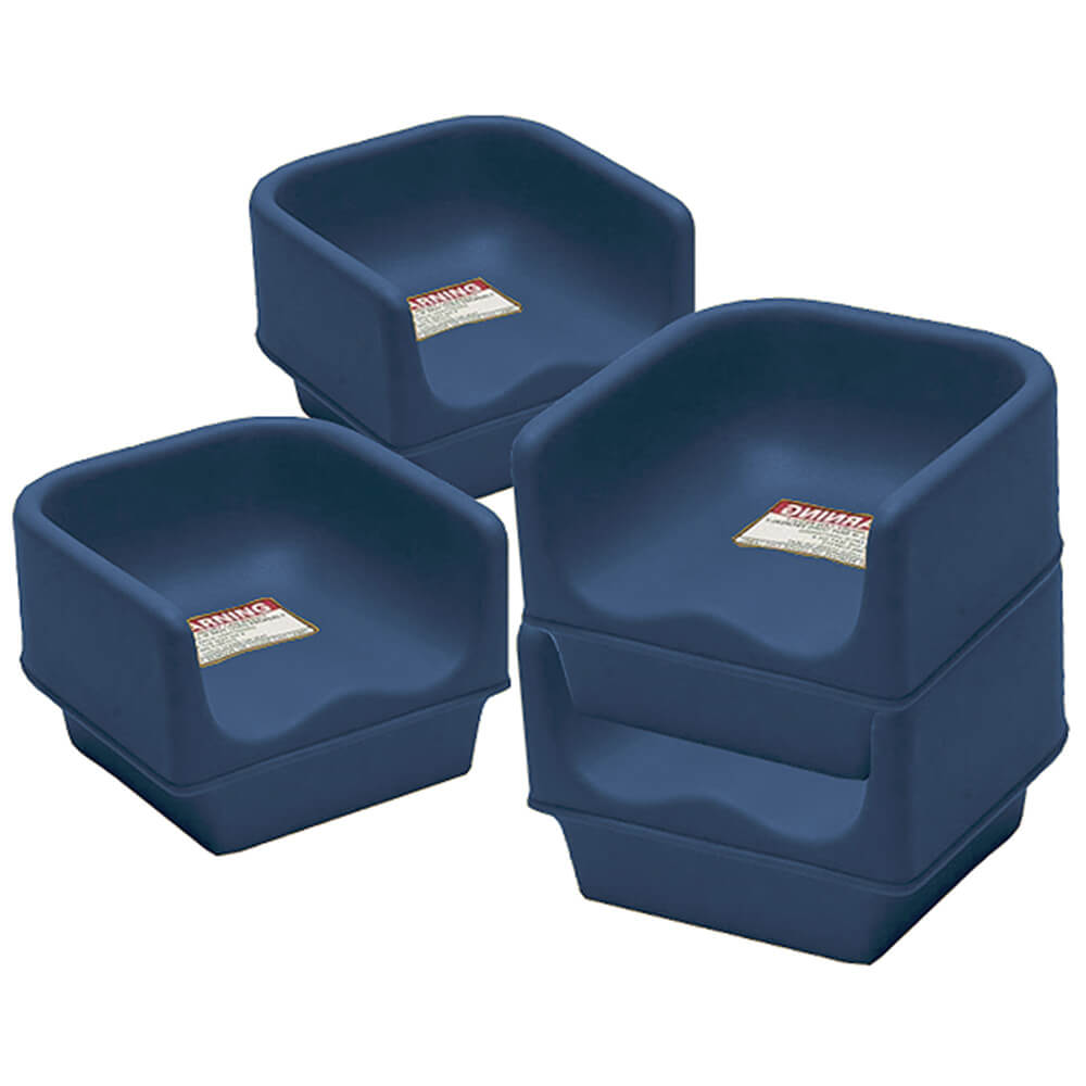 Navy Blue, Single Height Booster Seat, No Strap, 4/PK