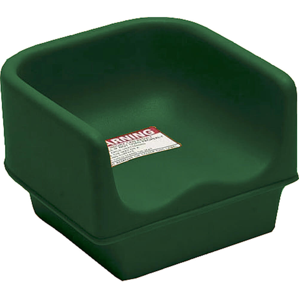 Green, Single Height Booster Seat, No Strap 1/PK