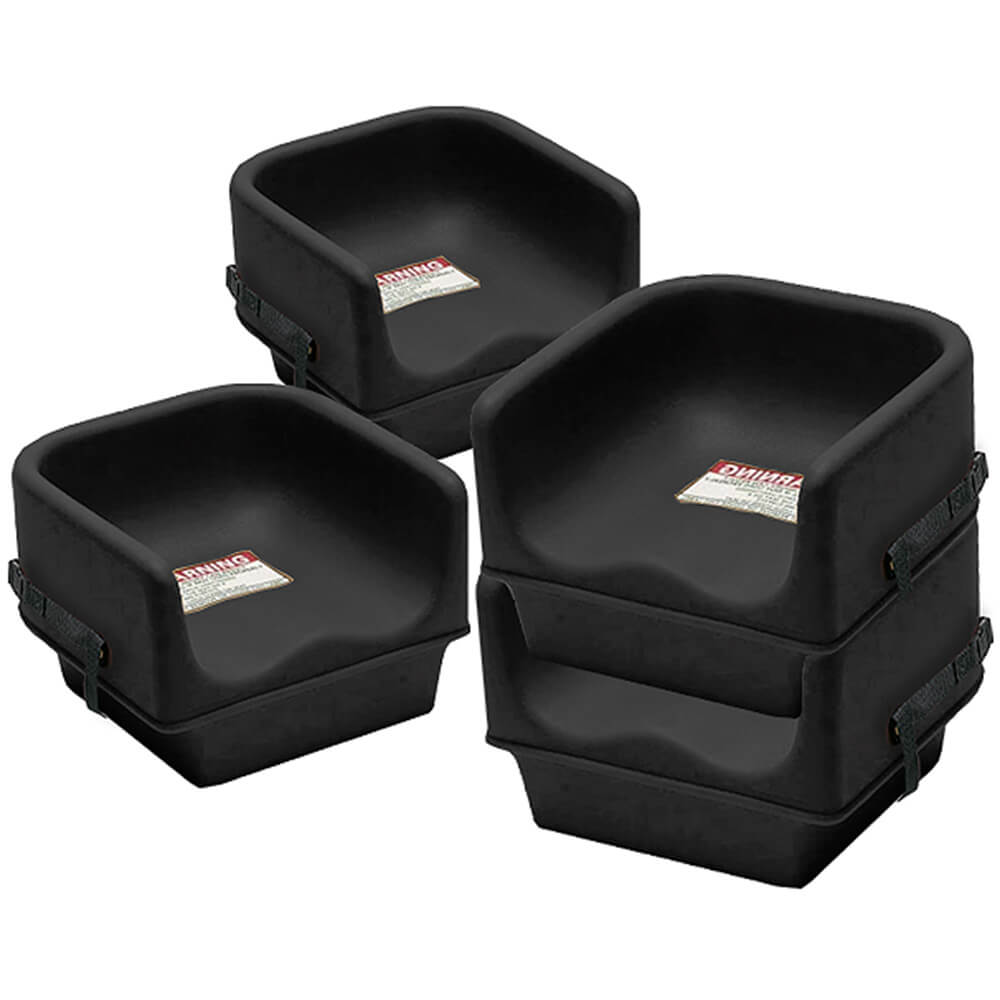 Cambro Black Single Height Booster Seat With Strap 4 Pk