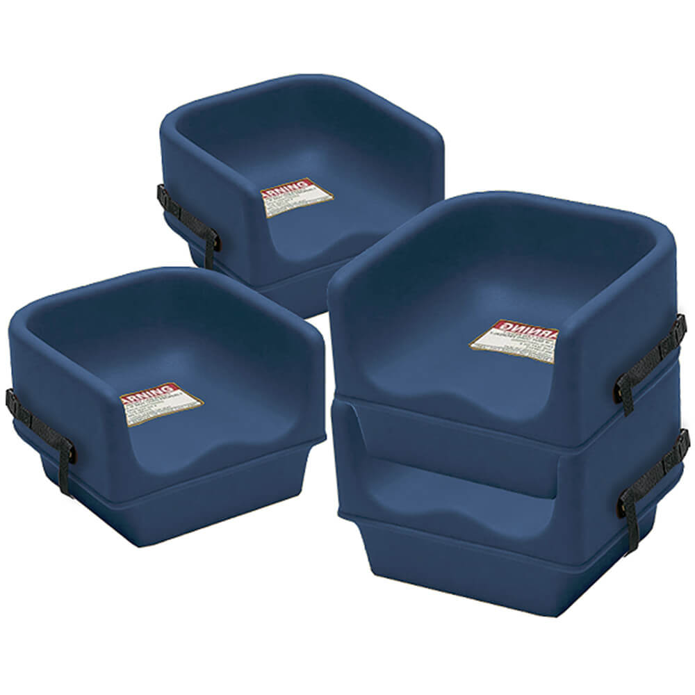 Navy Blue, Single Height Booster Seat with Strap, 4/PK