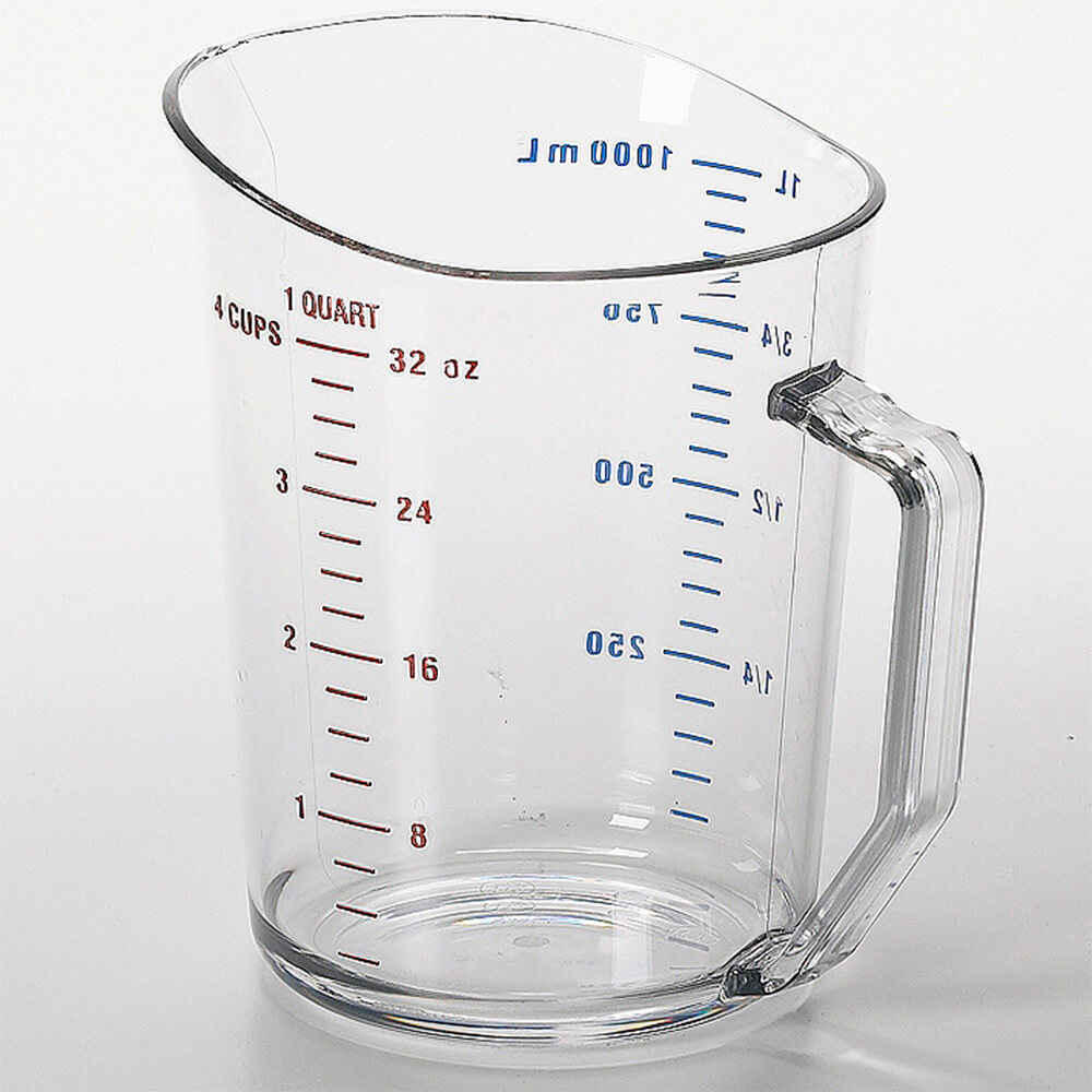 Clear, Camwear Measuring Cups, 1 Quart, 12/PK