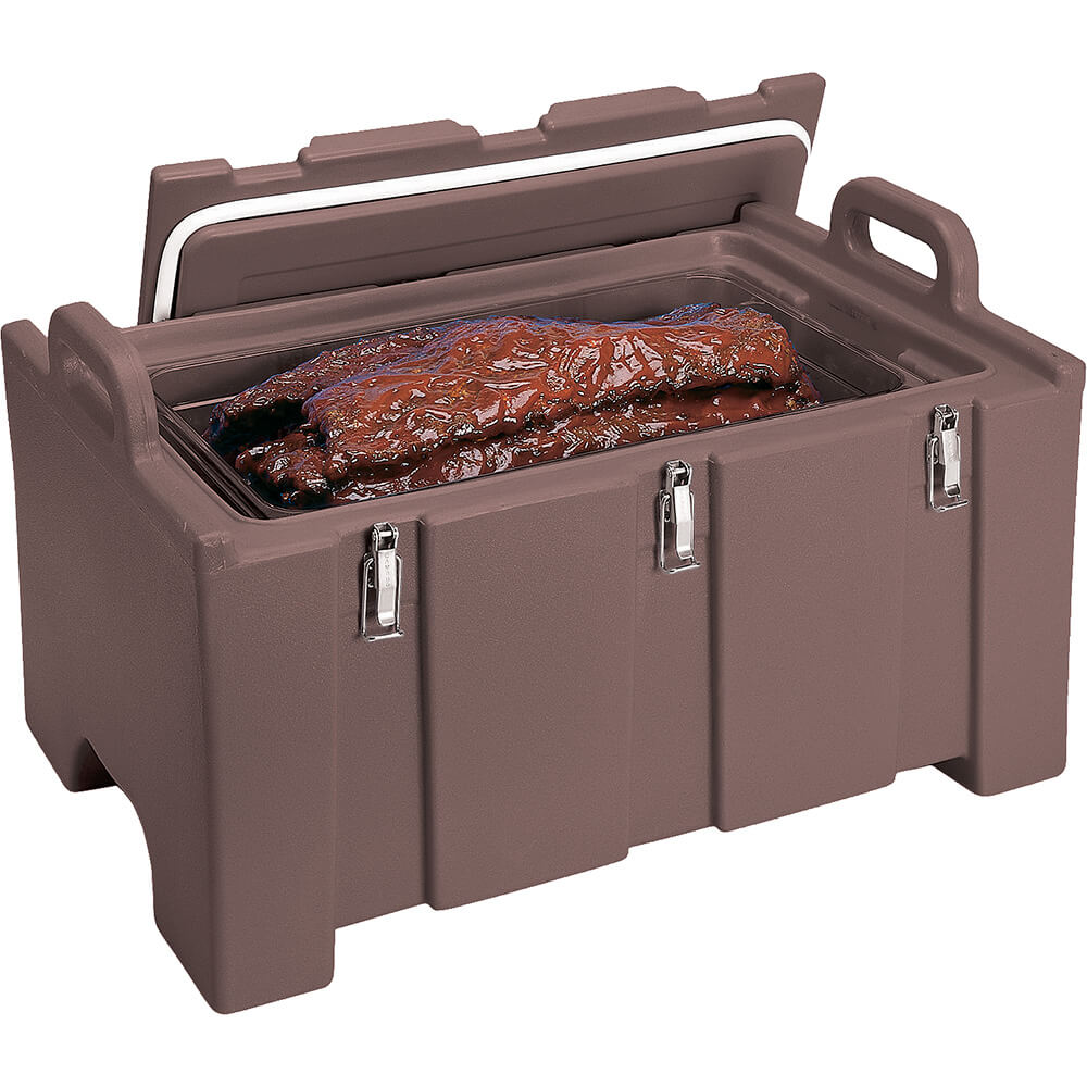 Dark Brown, Insulated Food Carrier for Bulk Storage, Stackable