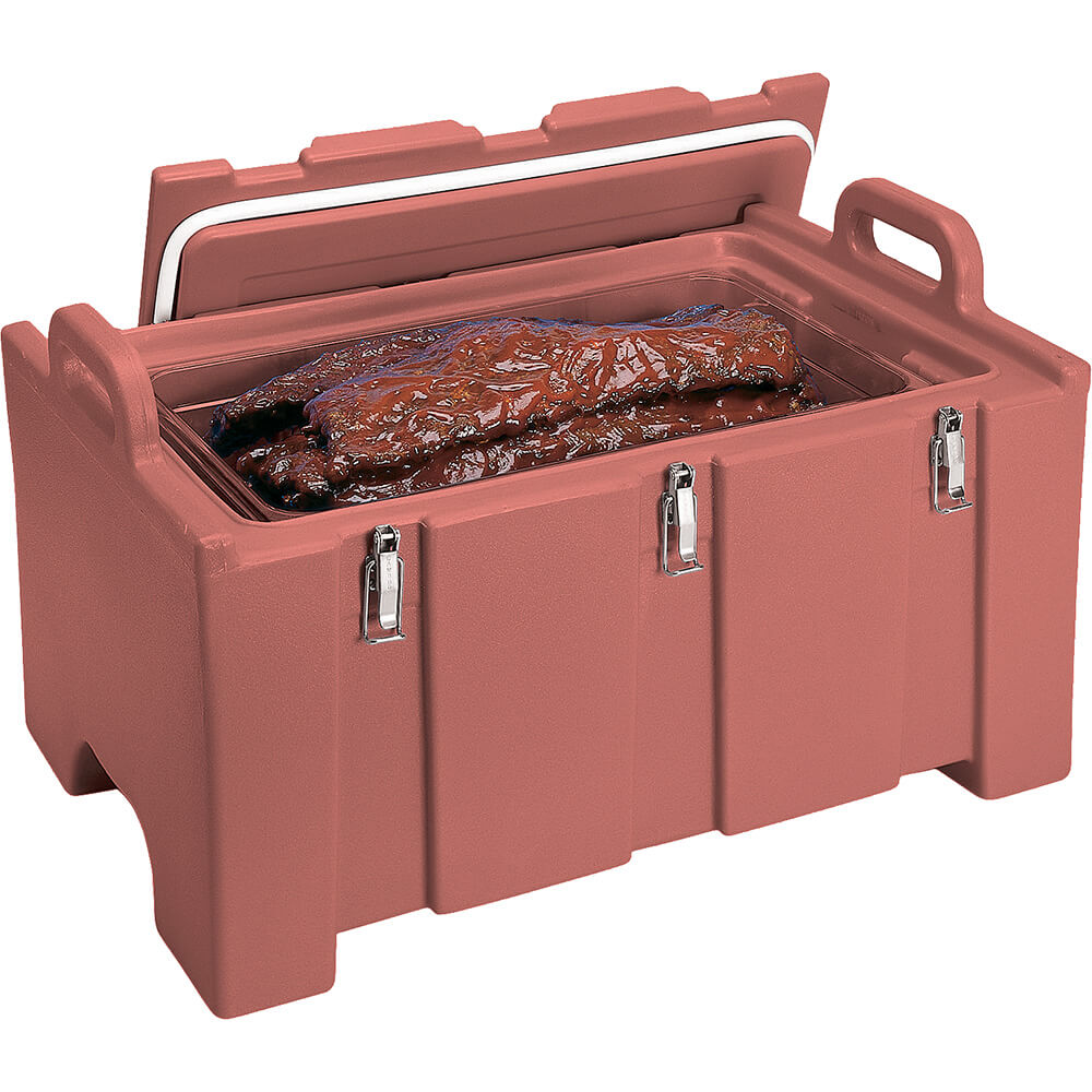 Brick Red, Insulated Food Carrier for Bulk Storage, Stackable