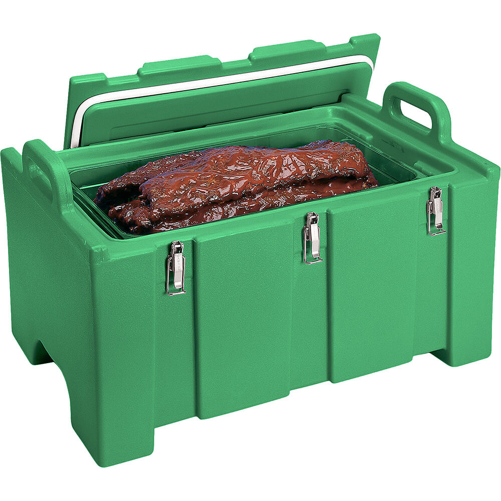 Green, Insulated Food Carrier for Bulk Storage, Stackable