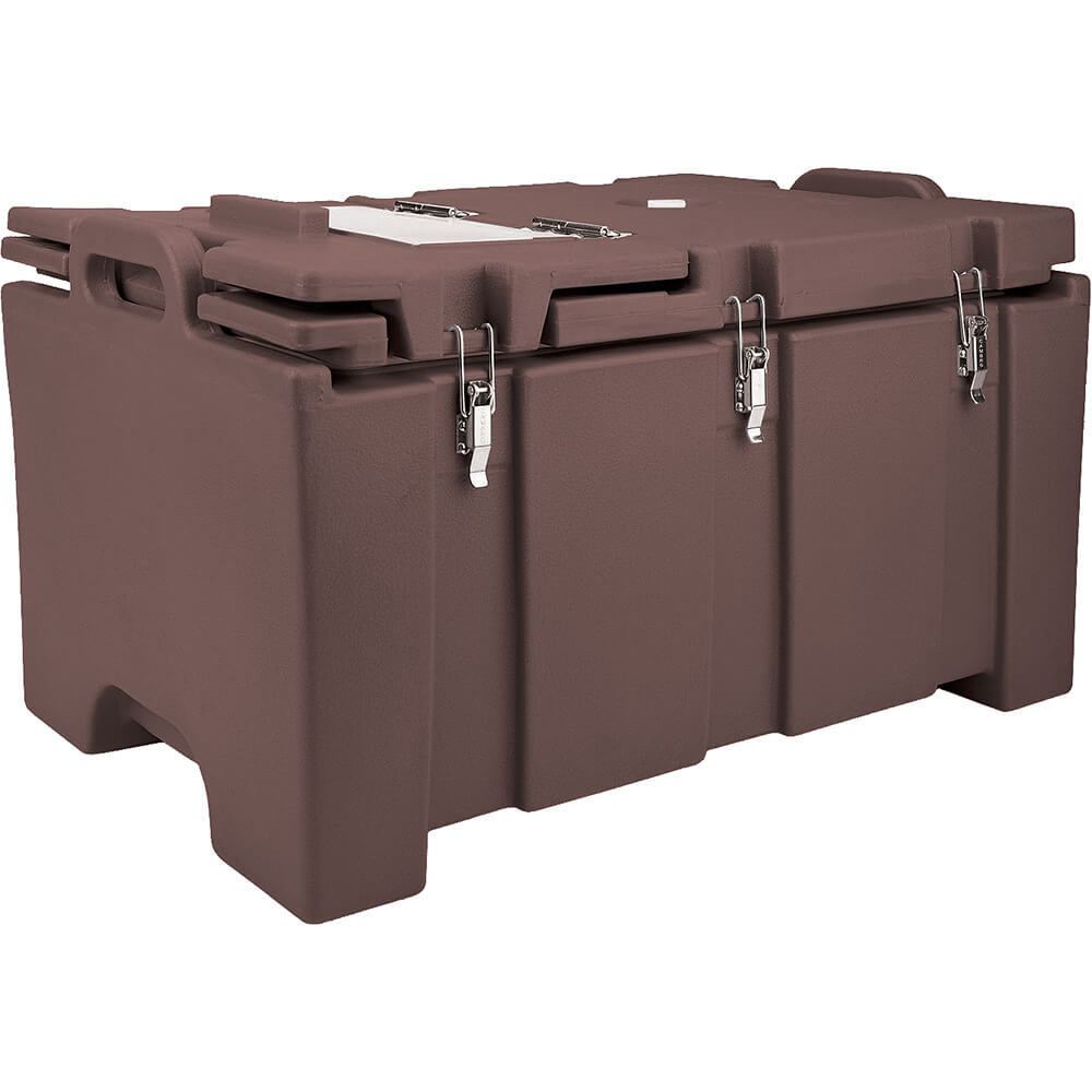 Dark Brown, Insulated Food Carrier with Hinged Serving Lid