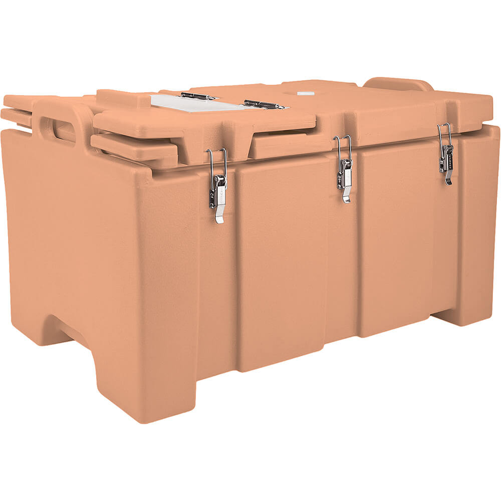 Coffee Beige, Insulated Food Carrier with Hinged Serving Lid