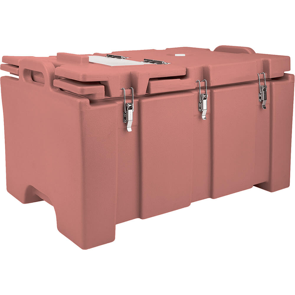 Brick Red, Insulated Food Carrier with Hinged Serving Lid