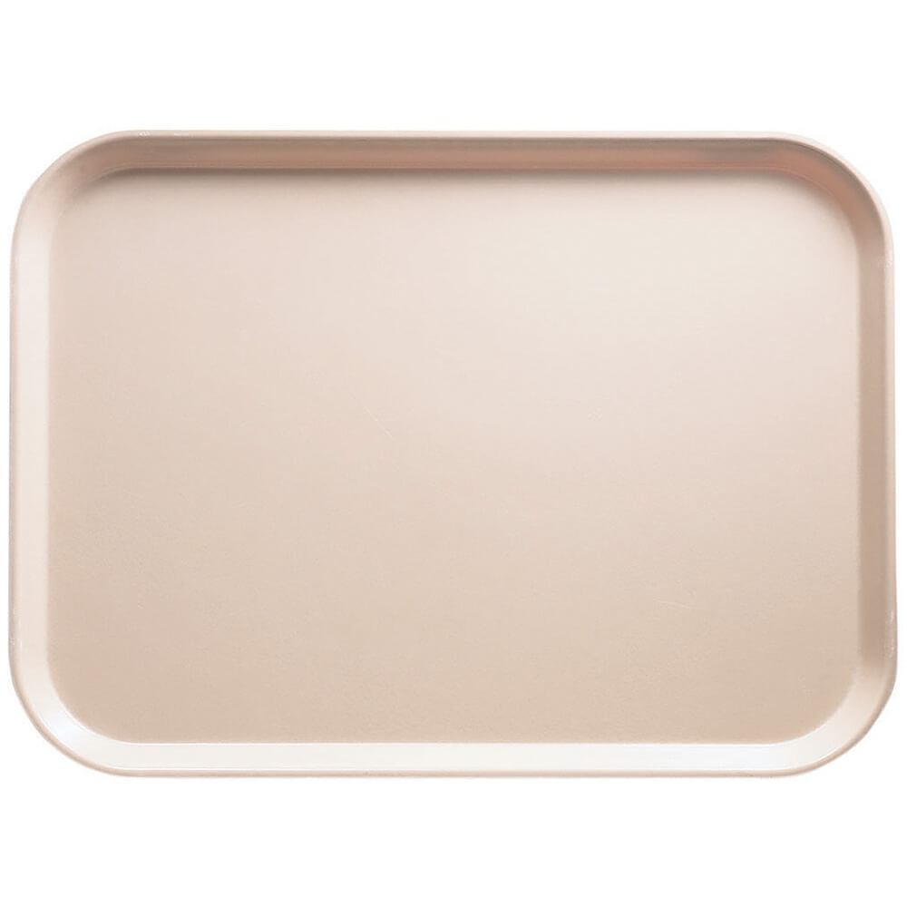 "Light Peach, 13"" x 18"" x 1-1/16"" Food Trays, Fiberglass, 12/PK"