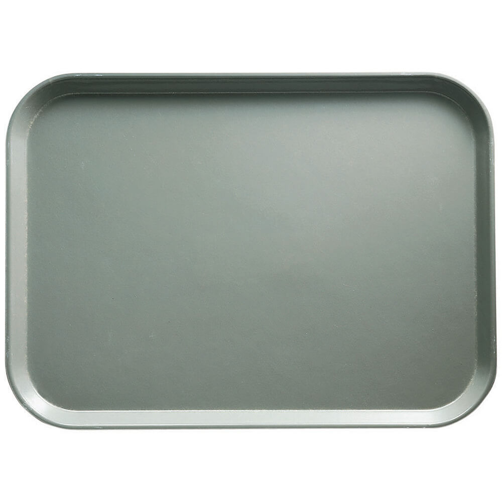 "Pearl Gray, 13"" x 18"" x 1-1/16"" Food Trays, Fiberglass, 12/PK"