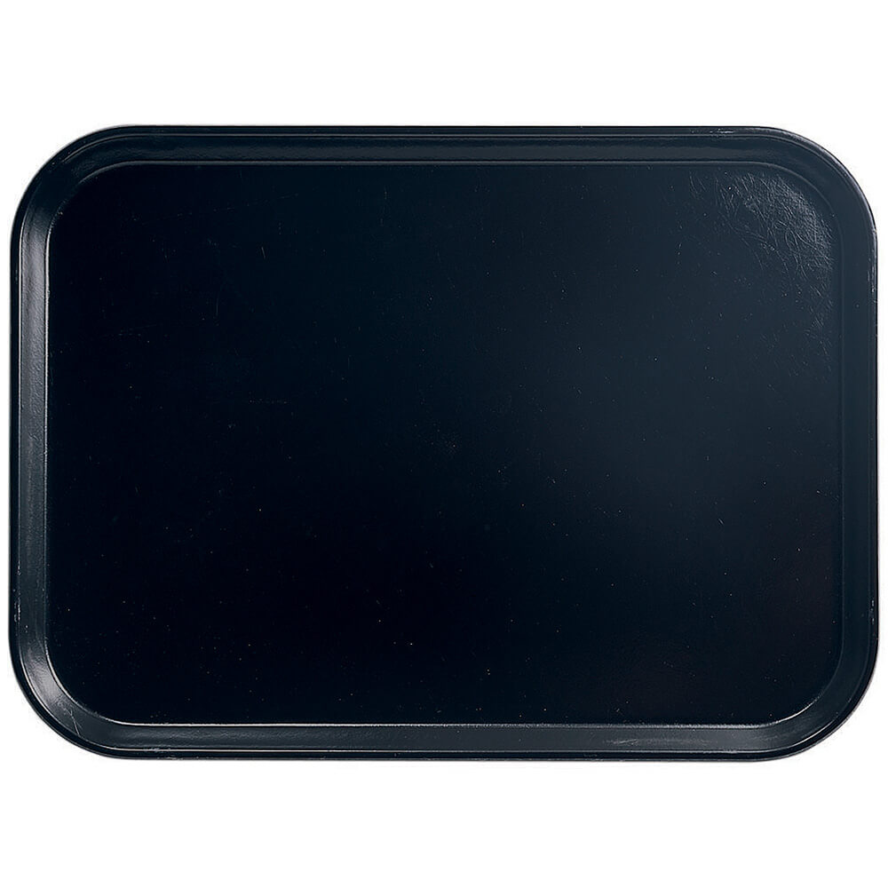"Black, 18"" x 26"" Food Trays, Fiberglass, 6/PK"