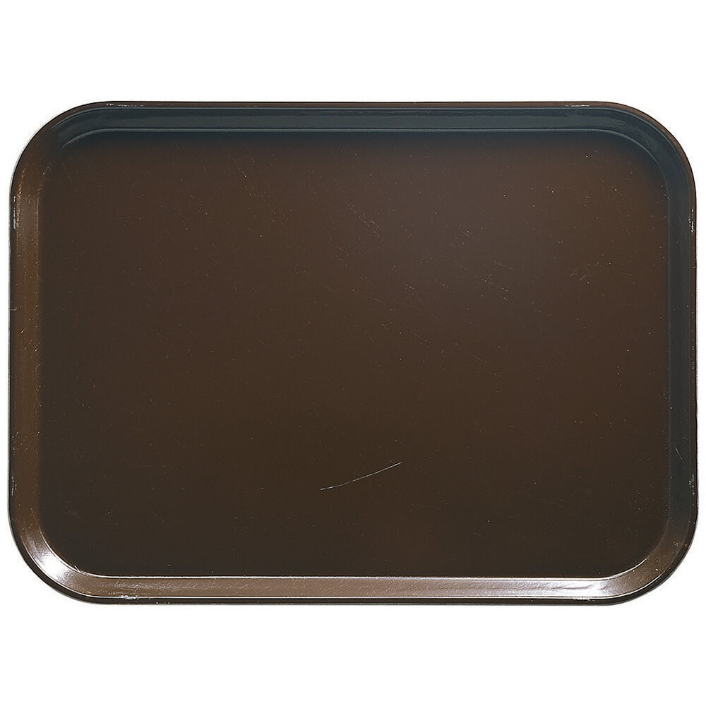 "Brazil Brown, 13"" x 18"" x 1-1/16"" Food Trays, Fiberglass, 12/PK"