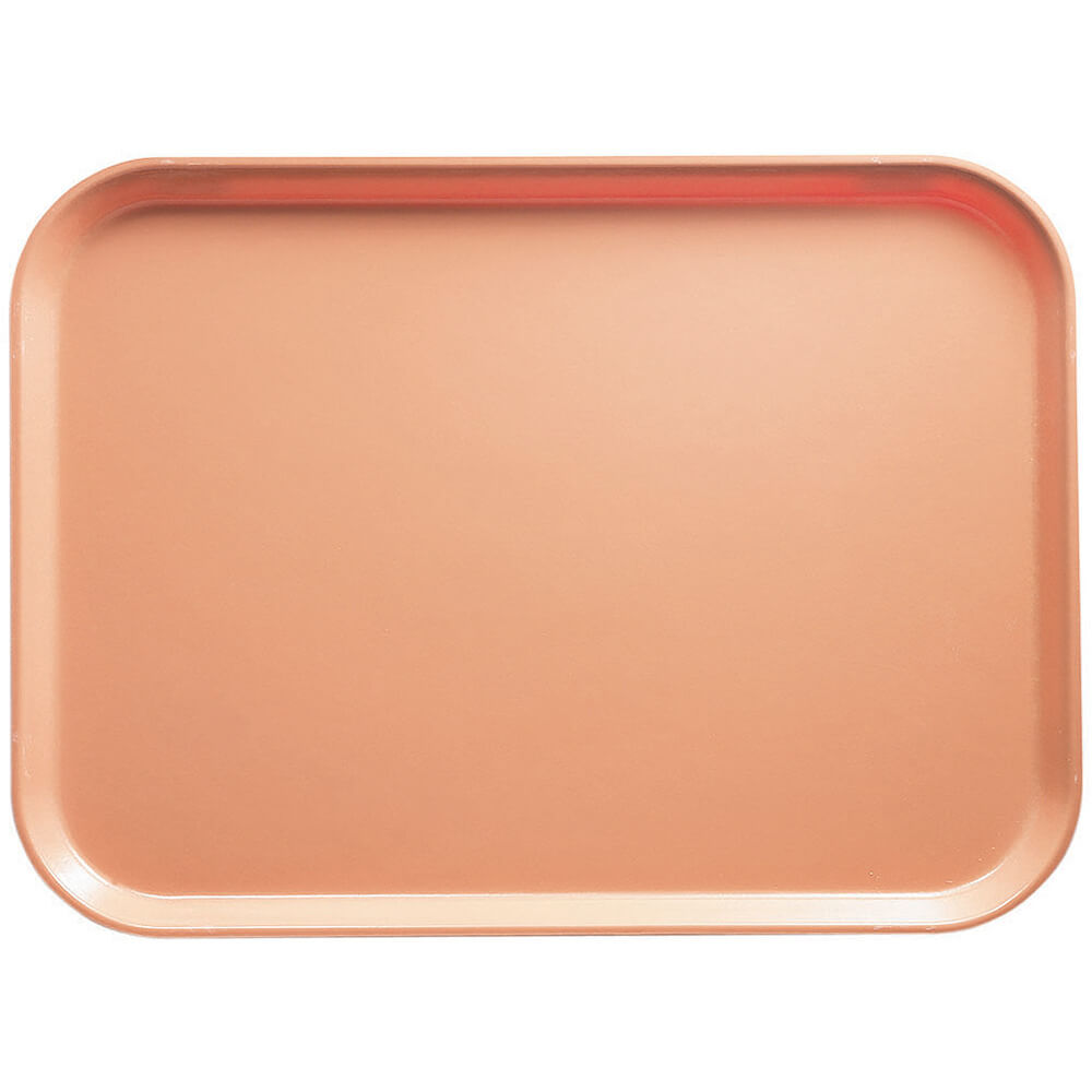 "Dark Peach, 14"" x 18"" Food Trays, Fiberglass, 12/PK"