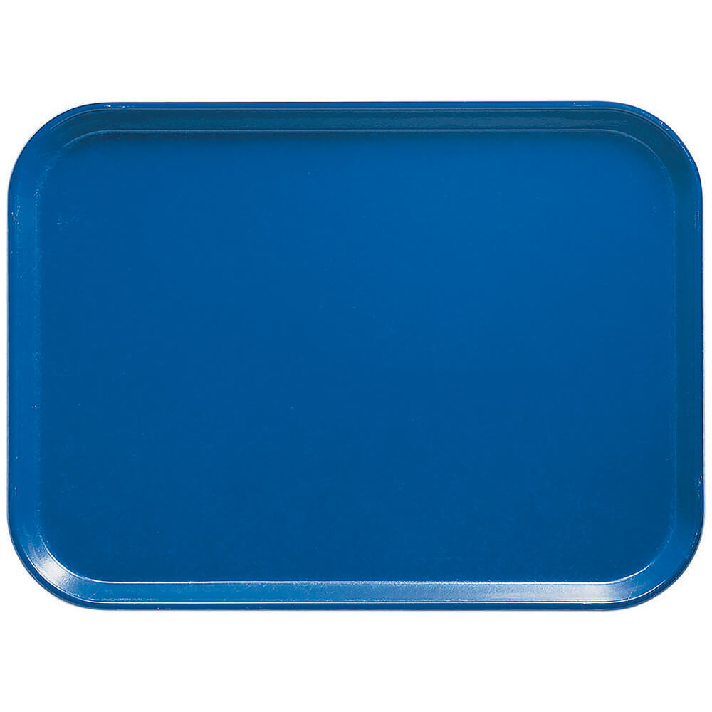 "Blue, 13-15/16"" x 17-15/16"" Polycarbonate Trays, 12/PK"