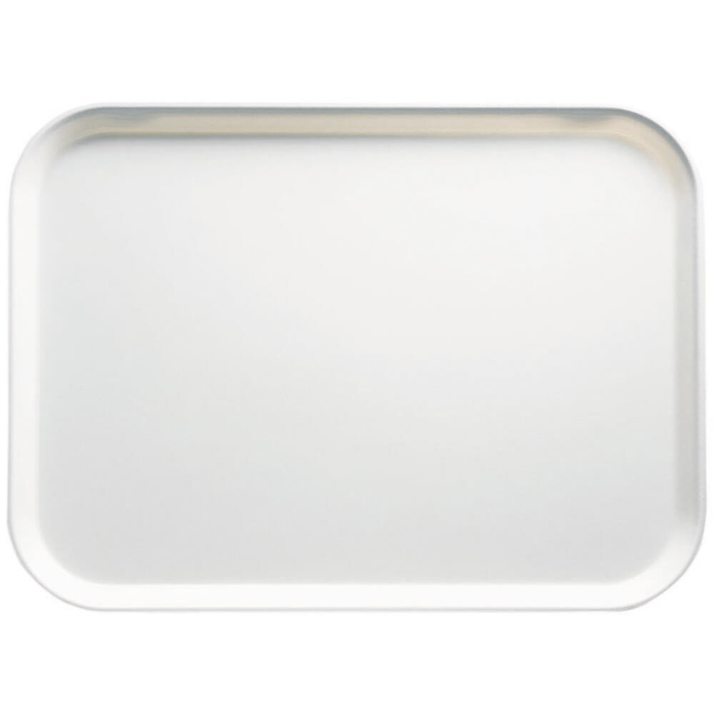 "White, 4-1/4"" x 6"" Food Trays, Fiberglass, 12/PK"