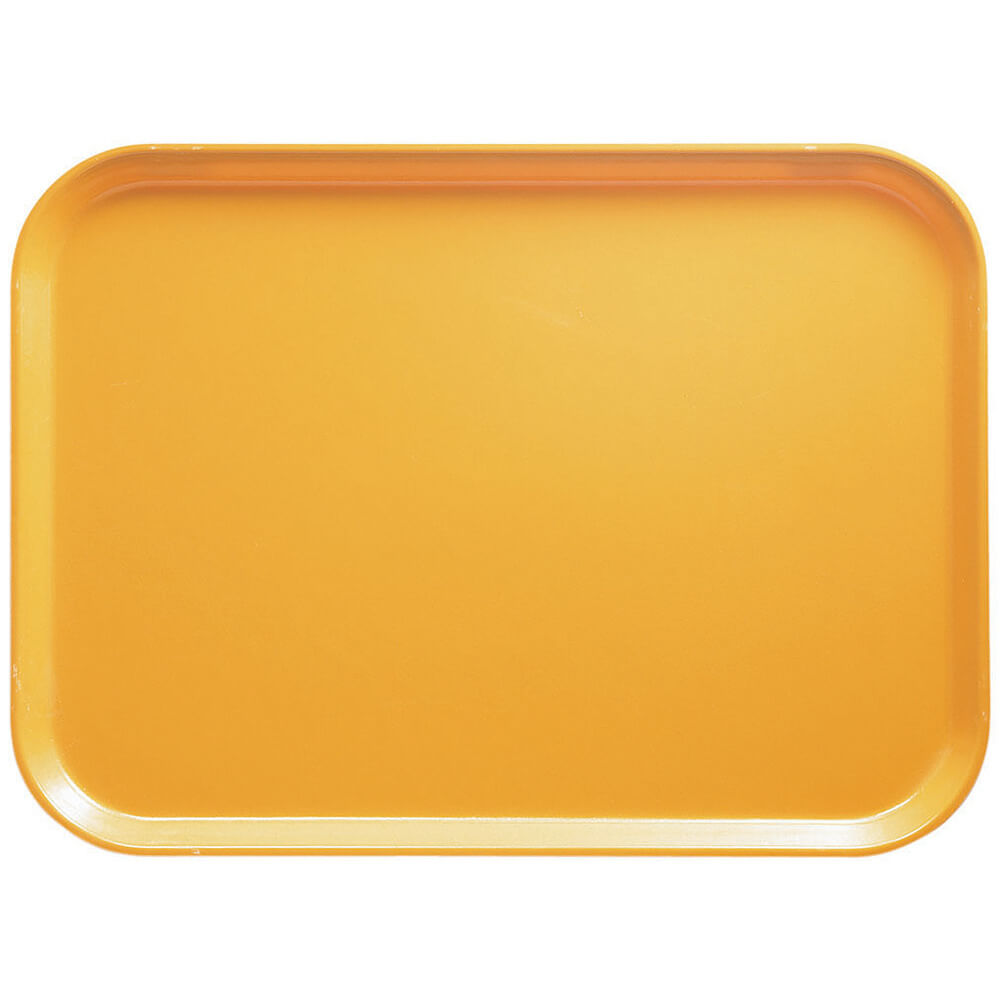 "Tuscan Gold, 16.5"" x 22.5"" x 1-1/16"" Food Trays, Fiberglass, 12/PK"