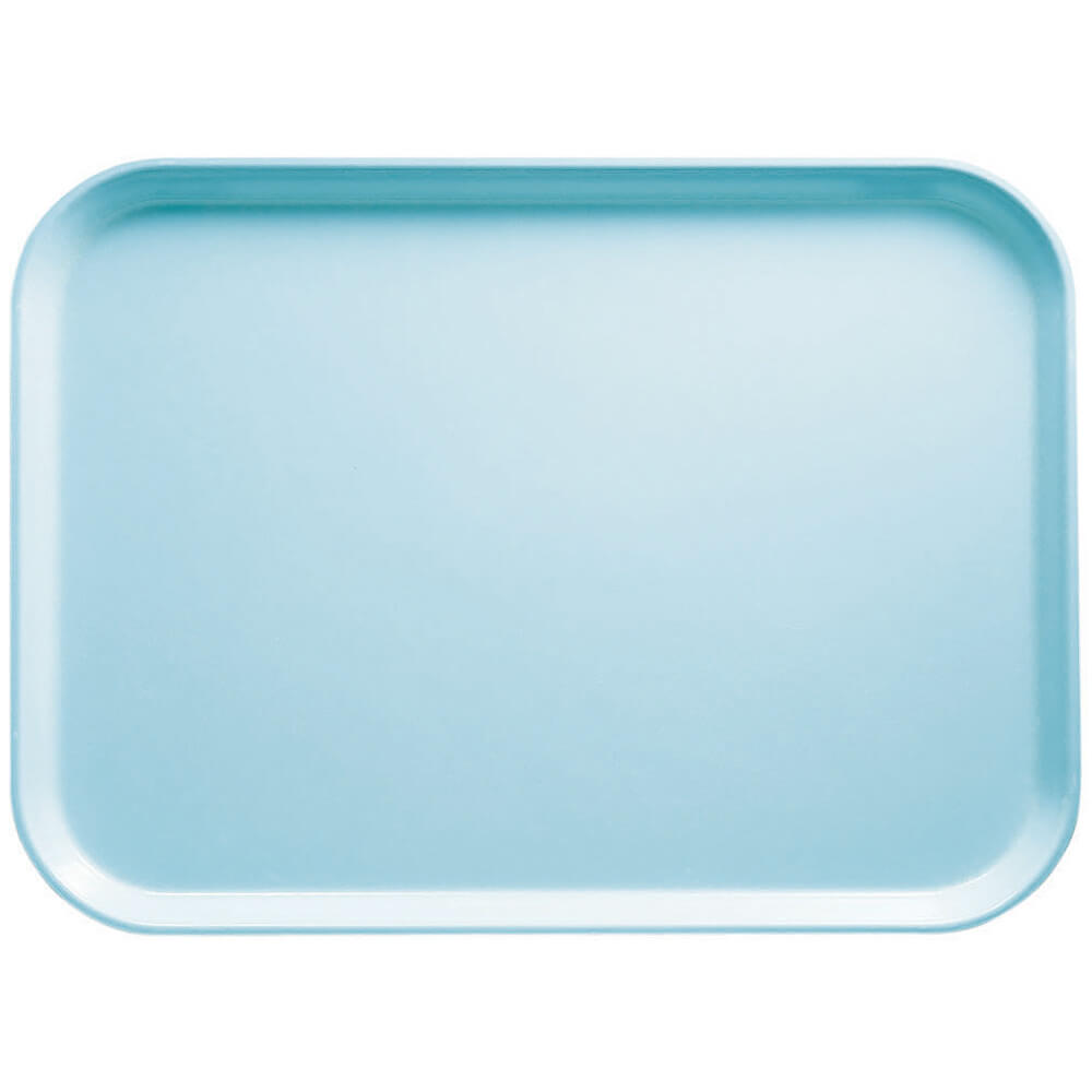"Sky Blue, 13"" x 18"" x 1-1/16"" Food Trays, Fiberglass, 12/PK"