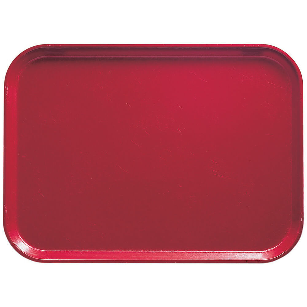 "Ever Red, 13"" x 18"" x 1-1/16"" Food Trays, Fiberglass, 12/PK"