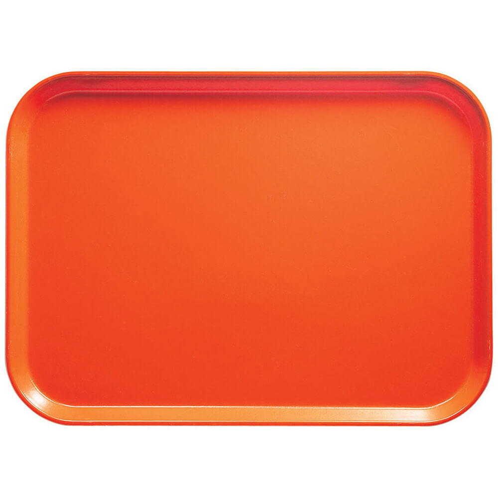 "Orange Pizazz, 10"" x 14"" Food Trays, Fiberglass, 12/PK"
