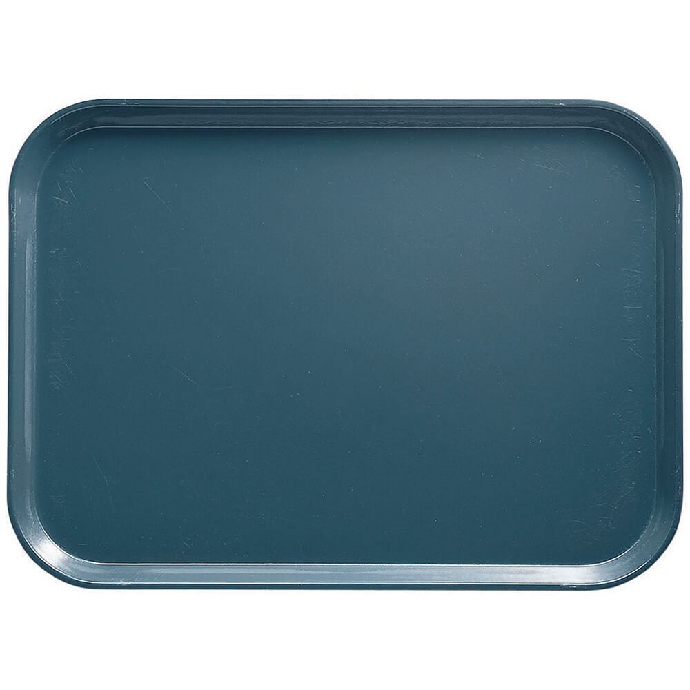 "Slate Blue, 4-1/4"" x 6"" Food Trays, Fiberglass, 12/PK"