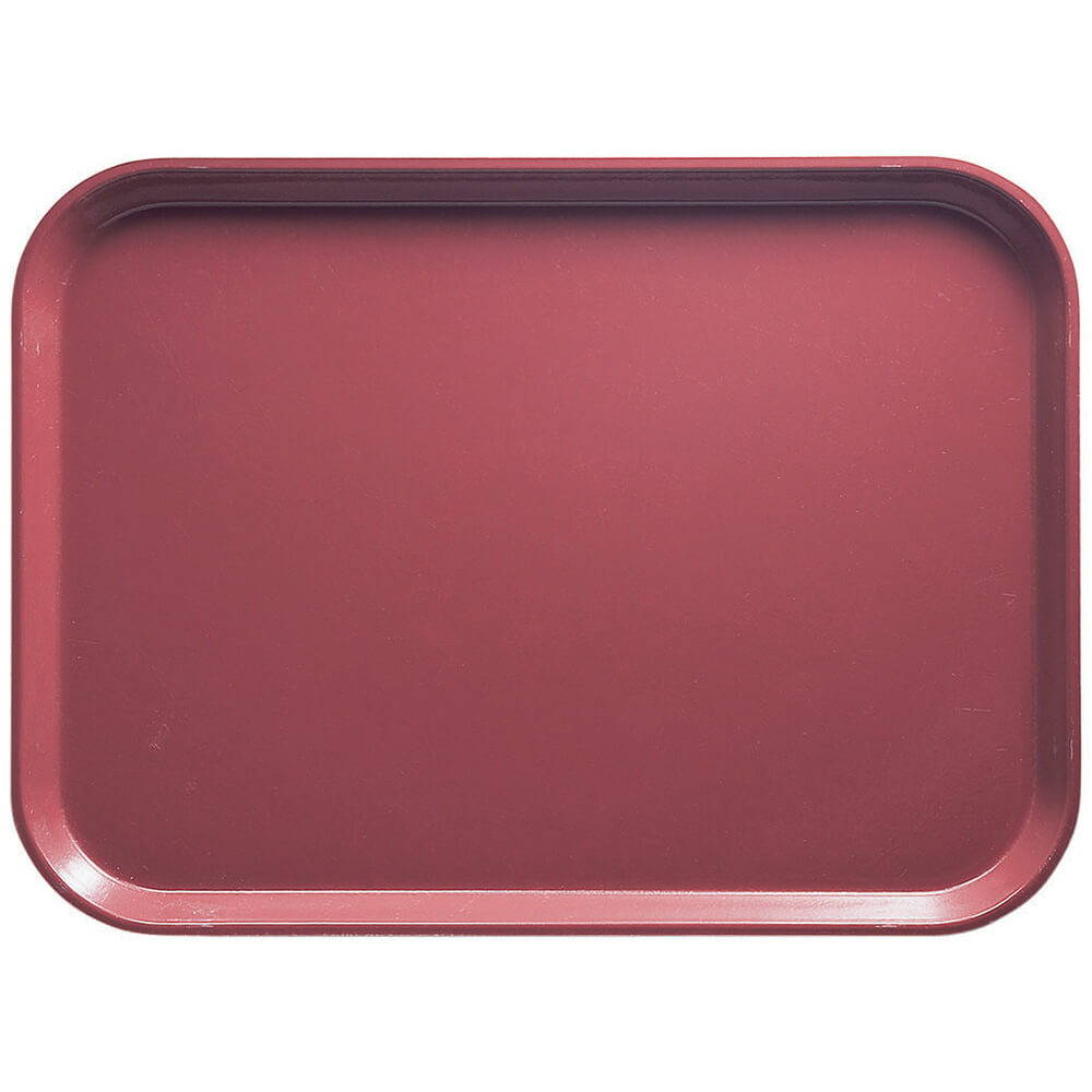 "Raspberry Cream, 13"" x 18"" x 1-1/16"" Food Trays, Fiberglass, 12/PK"