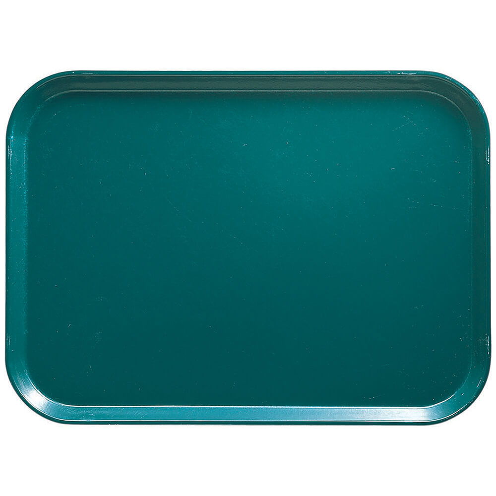 "Teal, 16.5"" x 22.5"" x 1-1/16"" Food Trays, Fiberglass, 12/PK"