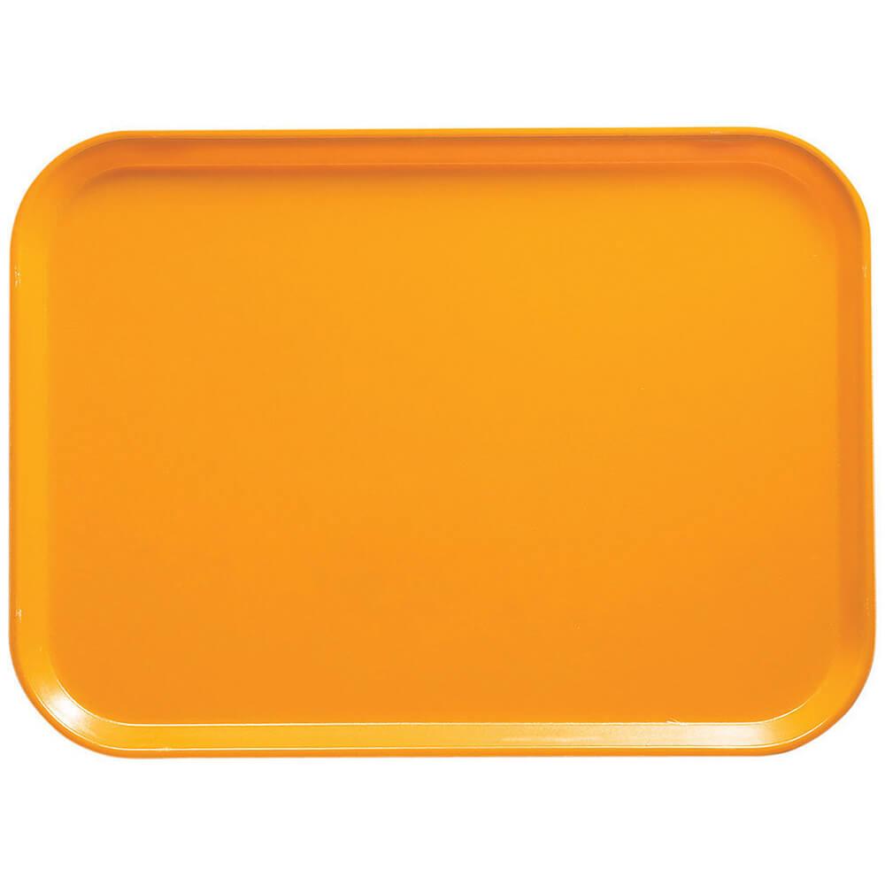 """Mustard, 12"""" x 16"""" Food Trays, Fiberglass, 12/PK"""