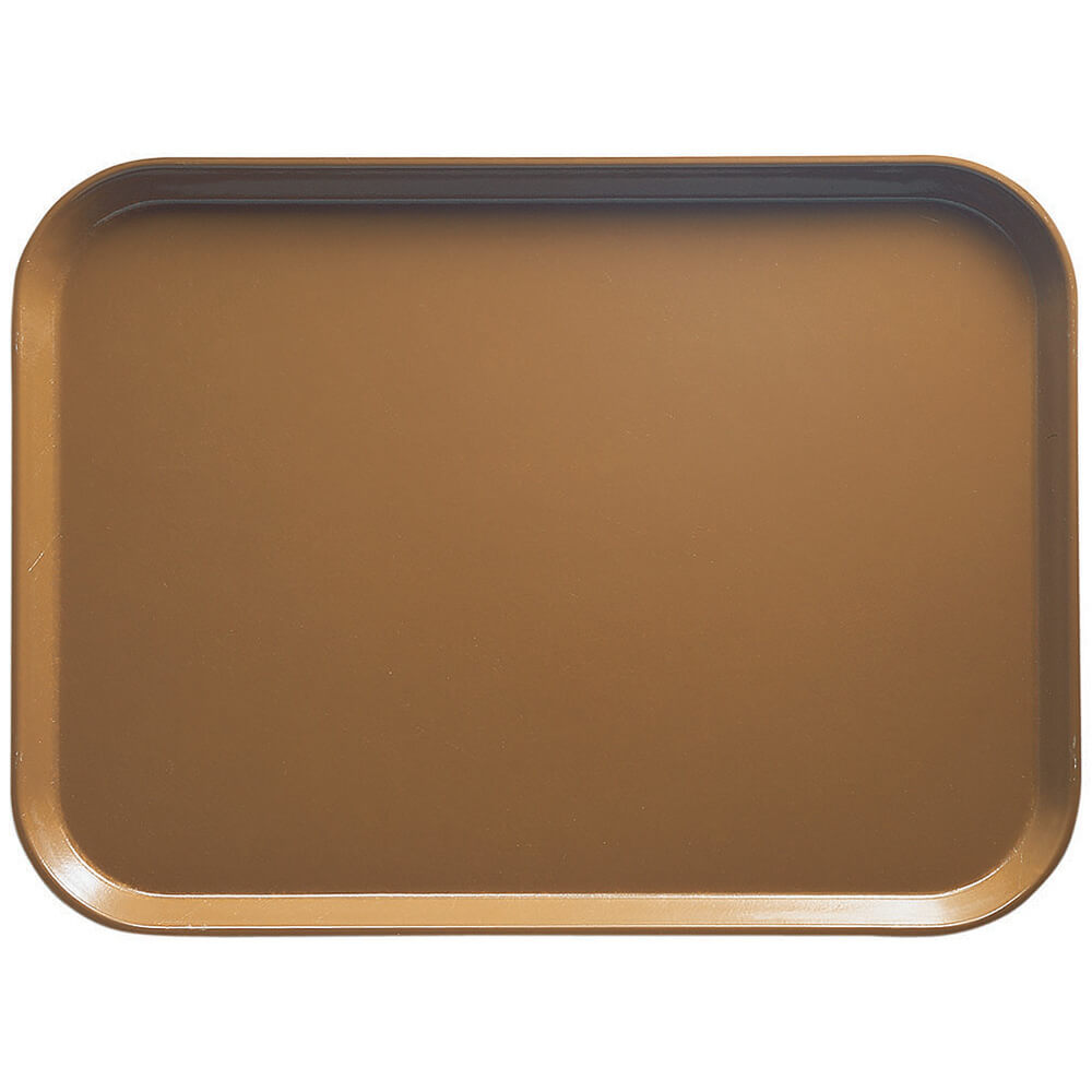 "Suede Brown, 14"" x 18"" Food Trays, Fiberglass, 12/PK"