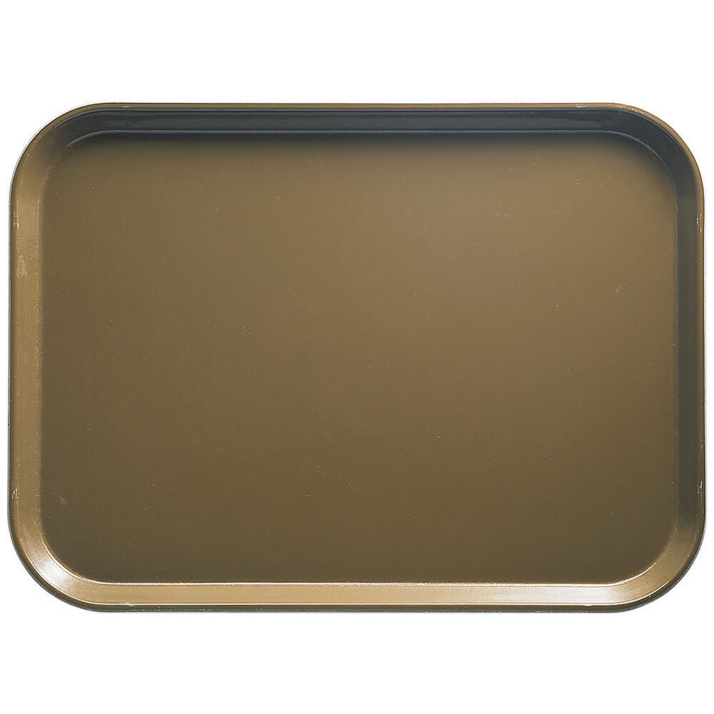 "Bay Leave Brown, 13"" x 18"" x 1-1/16"" Food Trays, Fiberglass, 12/PK"