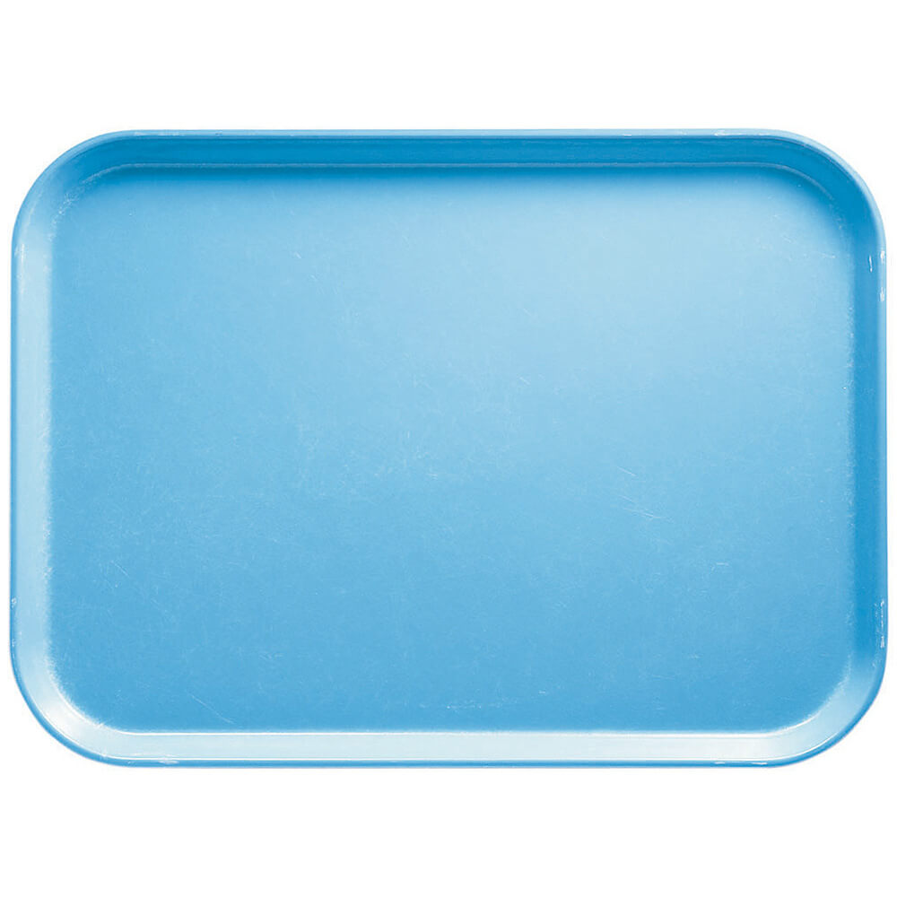 "Robin Egg Blue, 16.5"" x 22.5"" x 1-1/16"" Food Trays, Fiberglass, 12/PK"