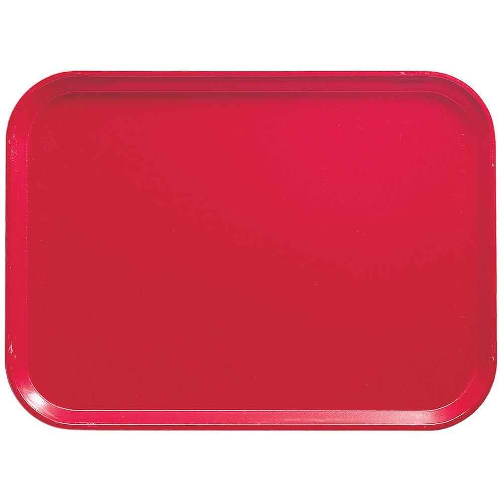 "Cambro Red, 11-13/16"" x 18-1/8"" (30x46 cm) Trays, 12/PK"
