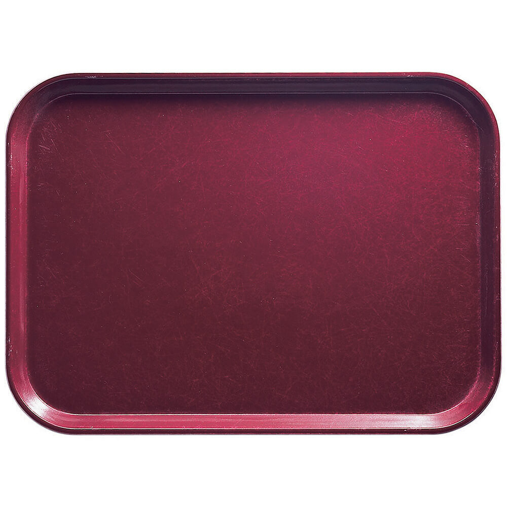 "Burgundy Wine, 14"" x 18"" Food Trays, Fiberglass, 12/PK"