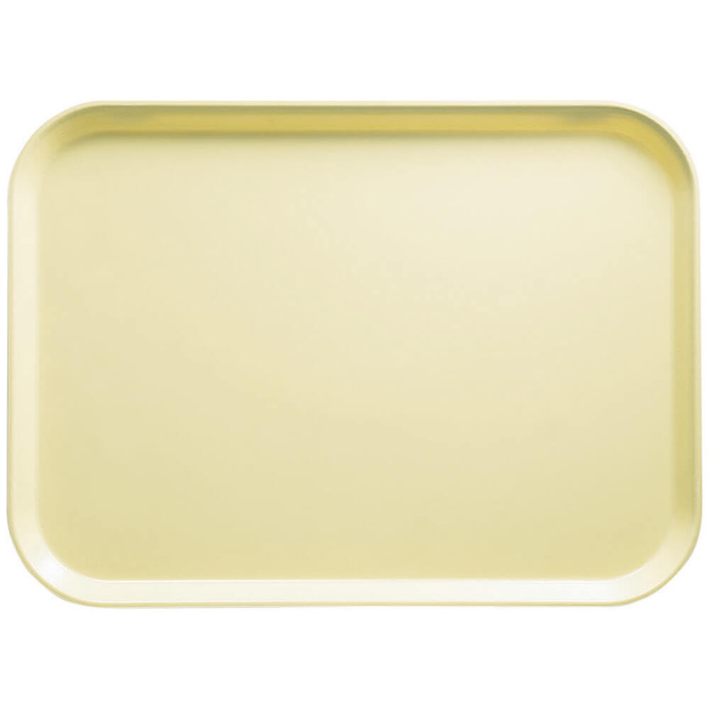 "Lemon Chiffon, 12"" x 16"" Food Trays, Fiberglass, 12/PK"