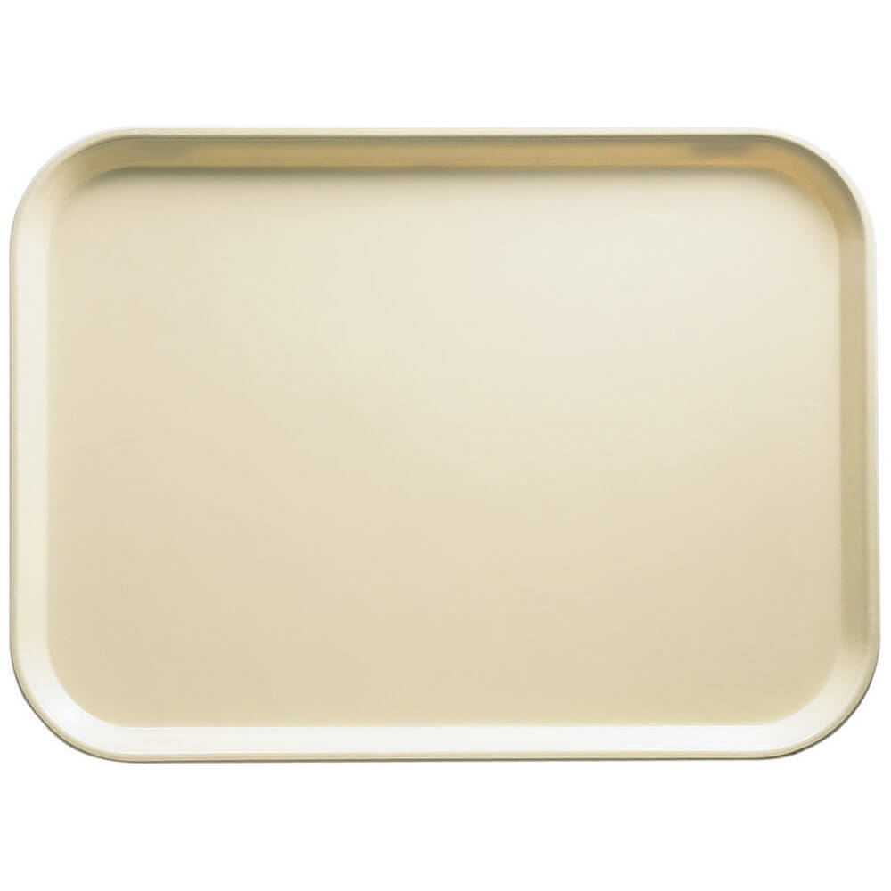 "Cameo Yellow, 13"" x 18"" x 1-1/16"" Food Trays, Fiberglass, 12/PK"
