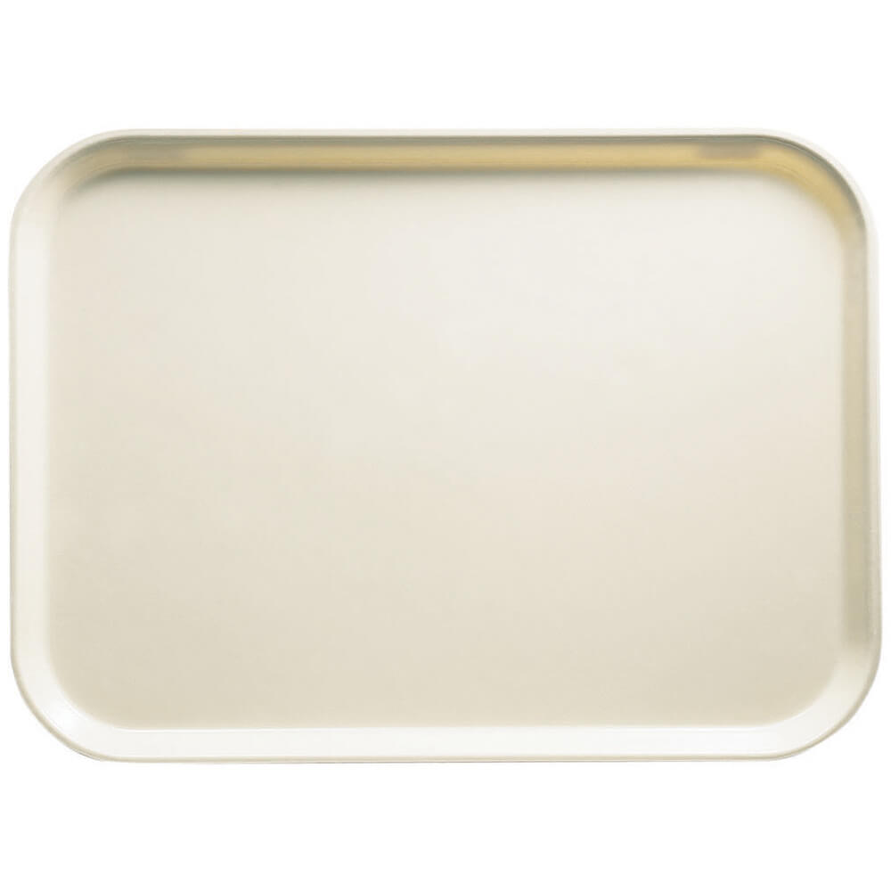 "Cottage White, 13"" x 18"" x 1-1/16"" Food Trays, Fiberglass, 12/PK"