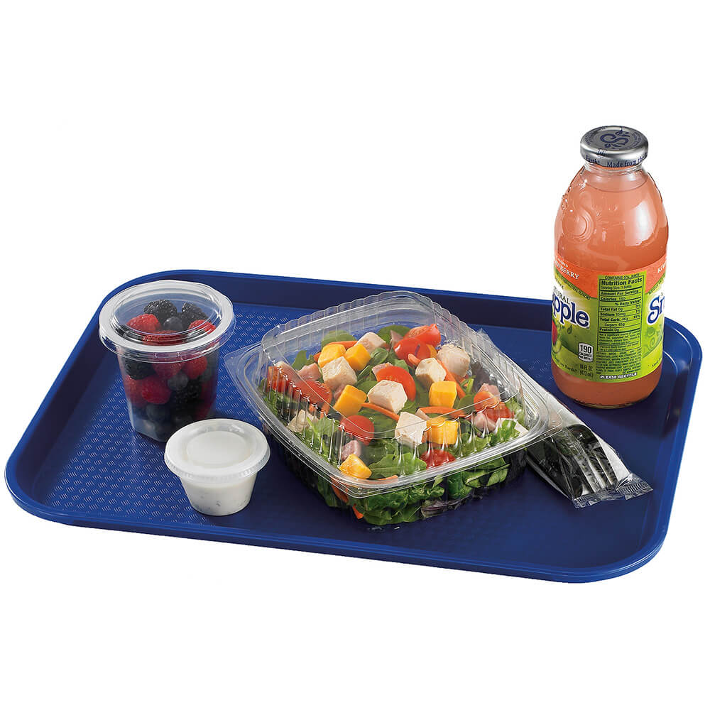 "Navy Blue, 12"" x 16"" Fast Food Trays, 24/PK View 2"