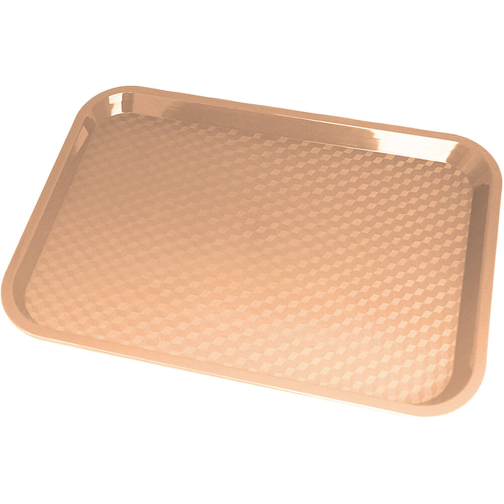 "Light Peach, 10"" x 14"" Fast Food Trays, 24/PK"