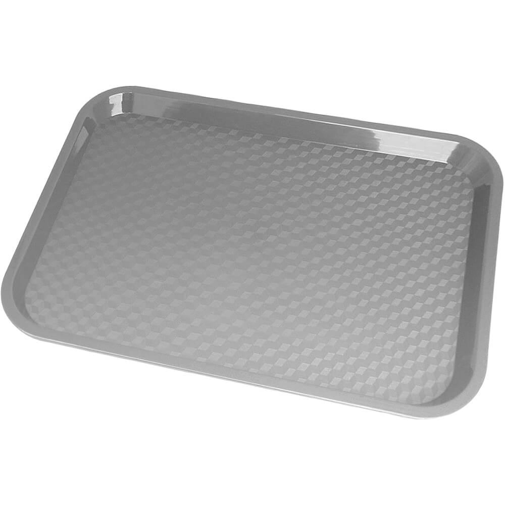 "Pearl Gray, 10"" x 14"" Fast Food Trays, 24/PK"