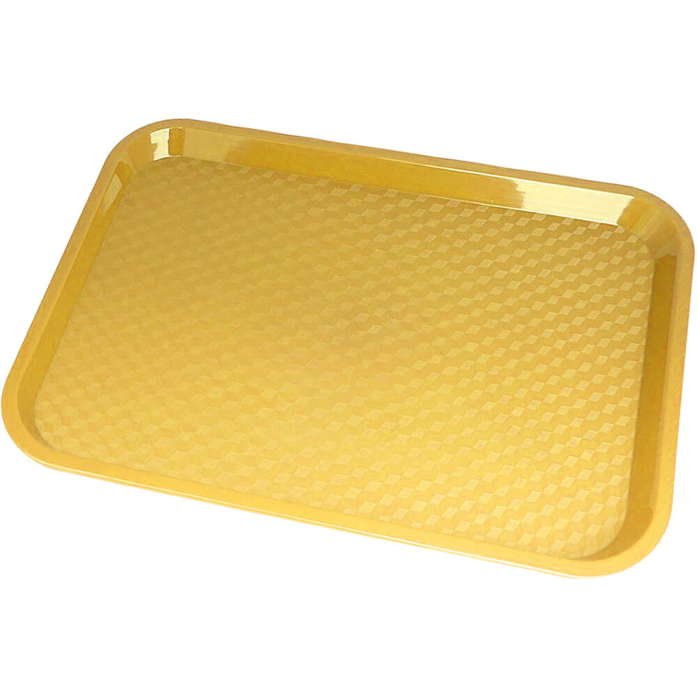 "Primrose Yellow, 14"" x 18"" Fast Food Trays, 12/PK"