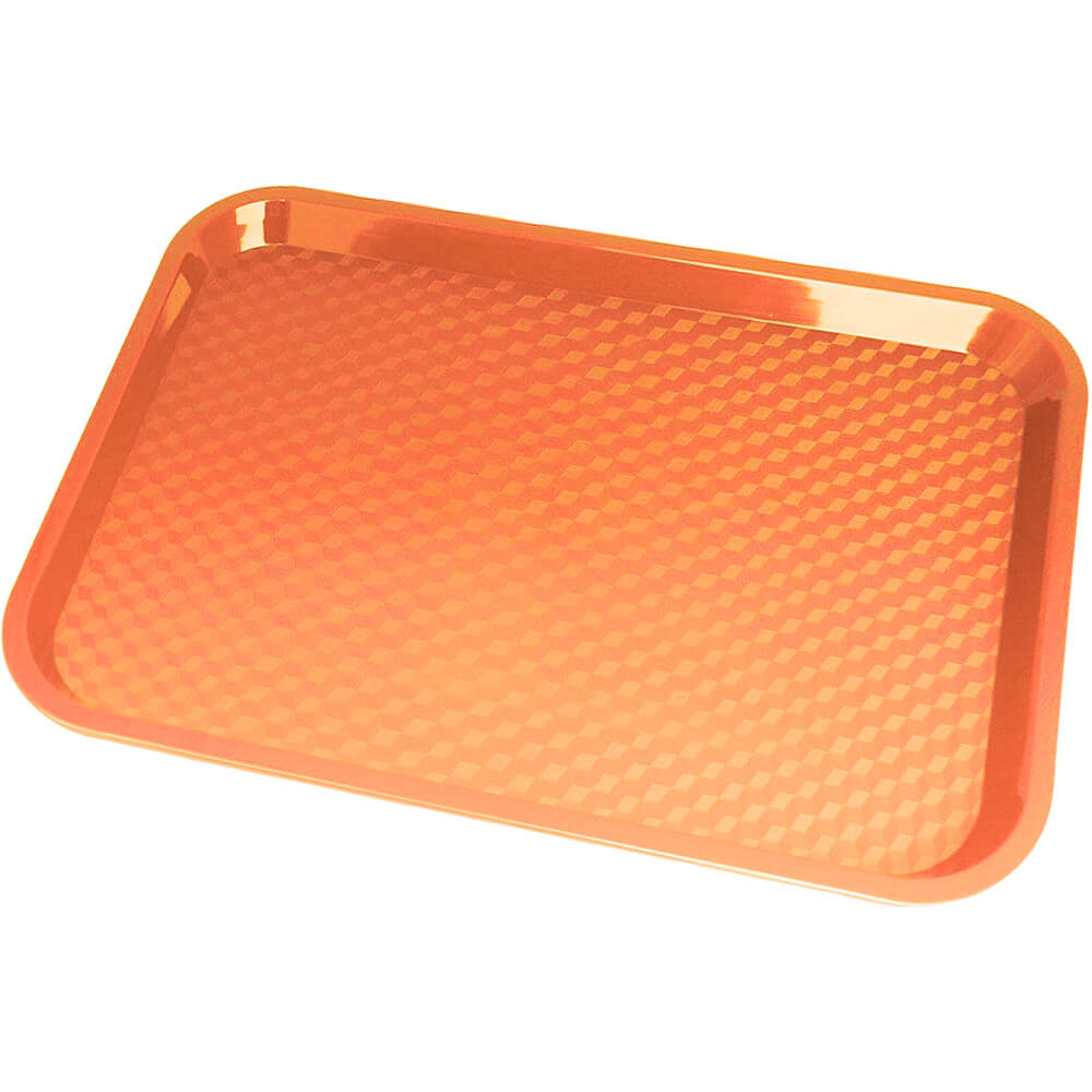 "Orange, 10"" x 14"" Fast Food Trays, 24/PK"