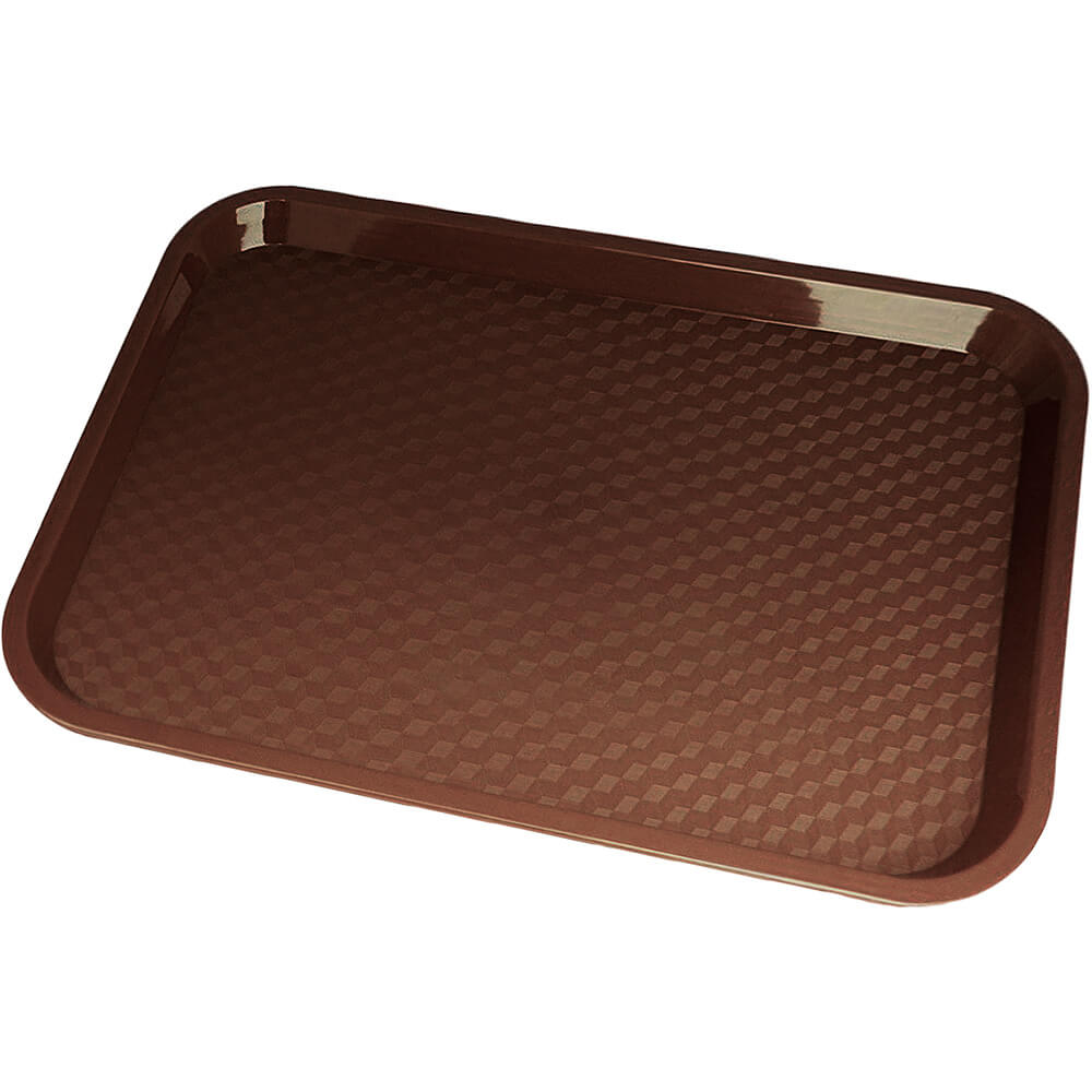 "Brown, 14"" x 18"" Fast Food Trays, 12/PK"