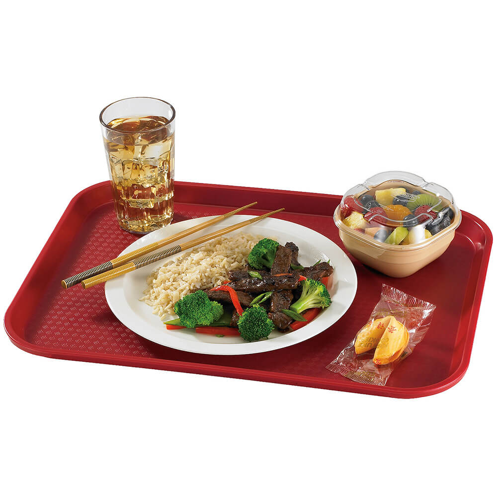 "Cranberry, 12"" x 16"" Fast Food Trays, 24/PK View 2"